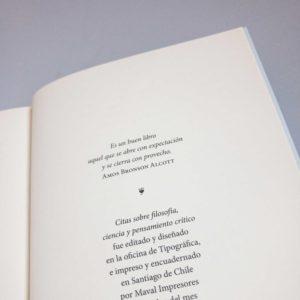 Colofón del libro Citas de filosofía, ciencia y pensamiento crítico