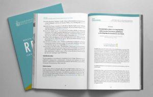 Diseño de interiores de la Revista de Derecho Ambiental número 12